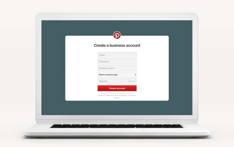 Create a business account on Pinterest