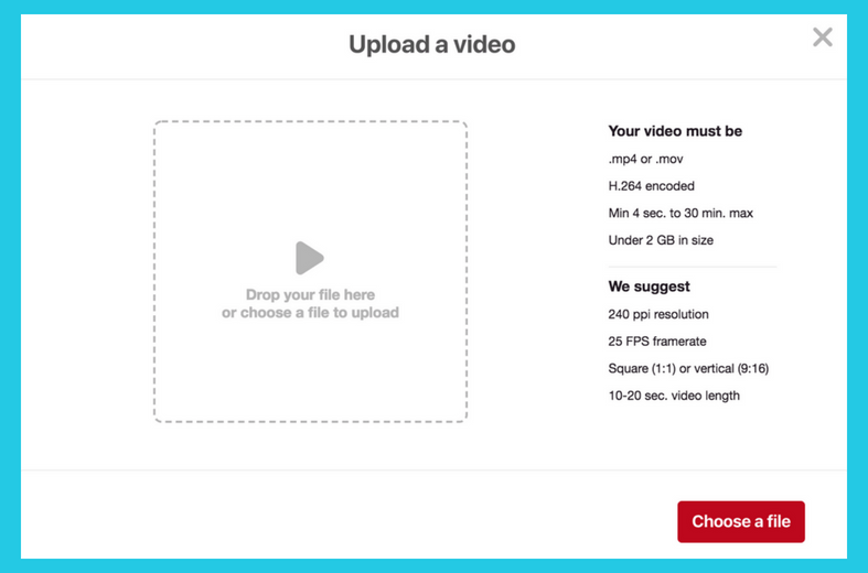 Pinterest video dimensions