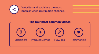 Types of videos for video landing pages
