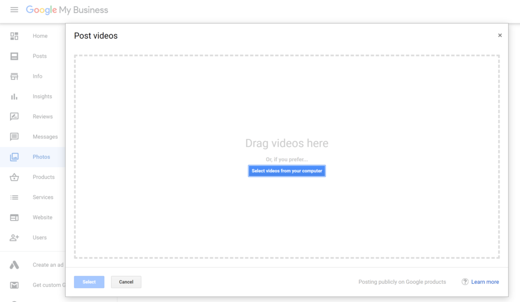 Add Video to Google My Business